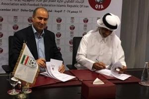 امضای تفاهم نامه همکاری فوتبال ایران و قطر