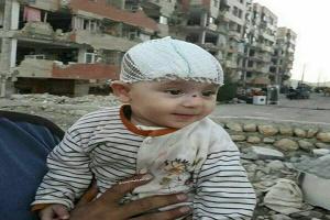 نجات نوزاد کرمانشاهی از زیر آوار زلزله+ عکس
