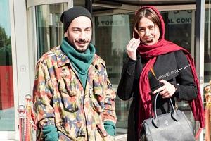 گریم عجیب نوید محمدزاده و پریناز ایزدیار در فیلم تفریق + عکس