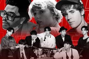 درخشش تیلور سوئیفت، جاستین بیبر و گروه BTS در جوایز موسیقی آمریکا + عکس