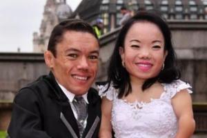 ازدواج قد کوتاه ترین زن و شوهر دنیا! عکس