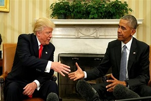 متلک جالب به آمدن ترامپ رفتن اوباما!+ عکس