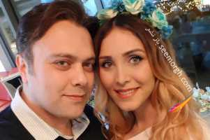 جشن بارداری کتی مجری شبکه های ماهواره ای در کنار همسرش! عکس