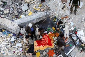 انتشار  عفونت  در مناطق زلزله زده!