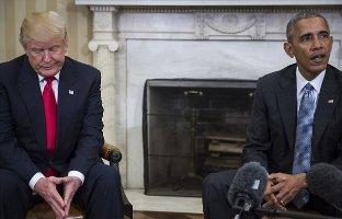 پیام ترامپ به اوباما پس از دیدار تاریخی با اون
