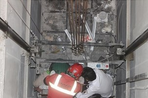 سقوط 8 طبقه ای آسانسور پاساژ علاءالدین حادثه آفرید